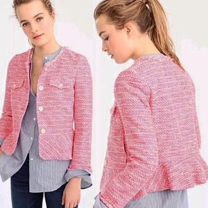 J. CREW Peplum Lady Tweed Blazer Jacket